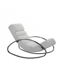 Urban rocking-chair blanc, Drimmer