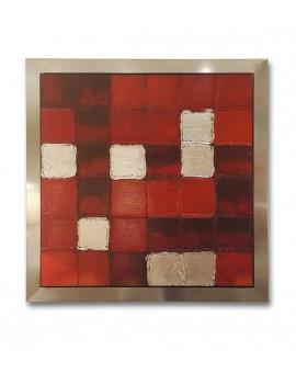 Peinture rouge acrylique sur toile