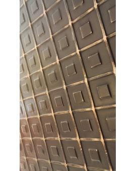 Tableau quadrillage cuir