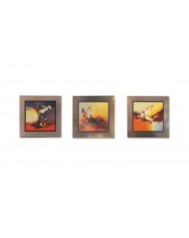 Peinture sur toile colorées