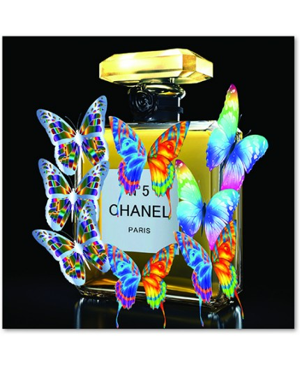 Tableau Chanel N°5 Papillons  Jacques Kerrhoubi