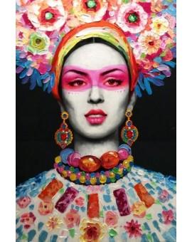 Tableau impression acrylique femme exotique