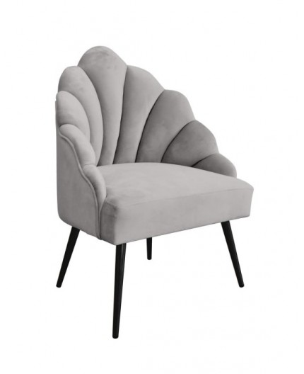 Fauteuil Jane velours gris Home Edelweiss