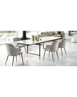 calligaris table monogramme céramique