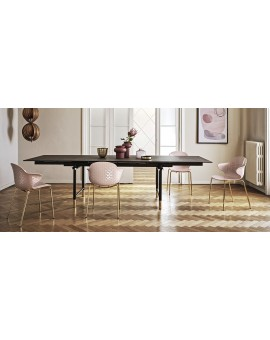 calligaris table monogramme céramique  a rallonge