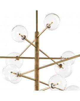 suspension laiton avec globes en verre
