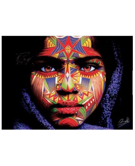 toile digitale avec touches de peinture de Baro Sarré