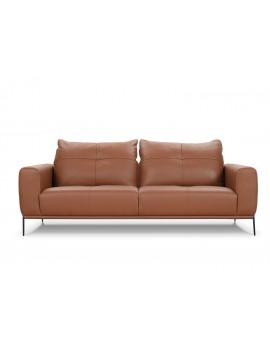 Canapé Lous SILVA, cuir et tissus dossier réglable
