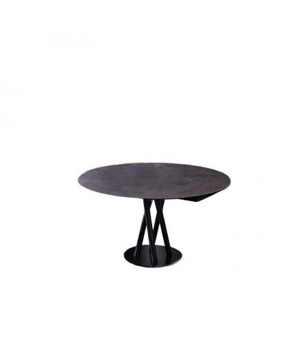 Table repas Sara, plateau extensible céramique