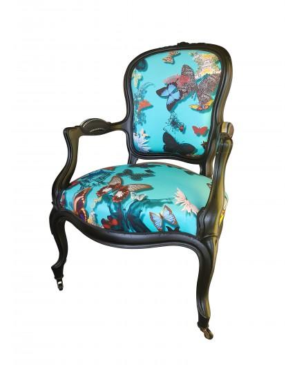 Cabriolet papillon fauteuil christian LACROIX Louis XVI