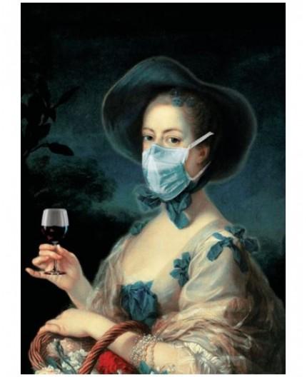 Tableau plexi imprimé masque chirurgical